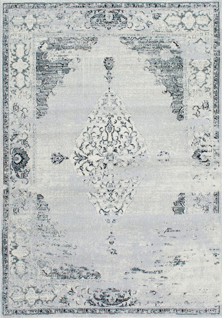 Traditional Light Gray Area Rug, 9&x27;x12&x27;.