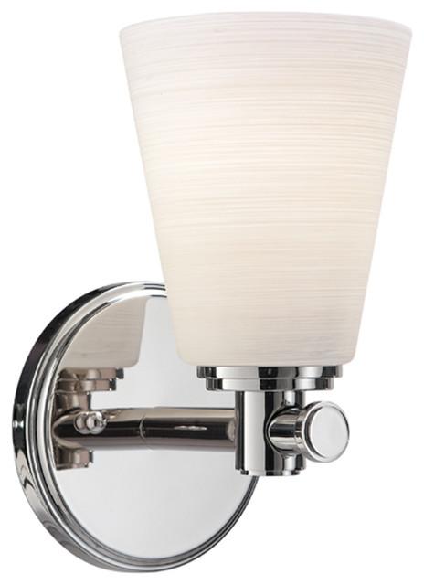 Garland 1-Light Bath Bracket, Polished Nickel