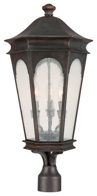 Capital Lighting 9387OB Inman Park 3-Light Post Lantern, Med. Bronze