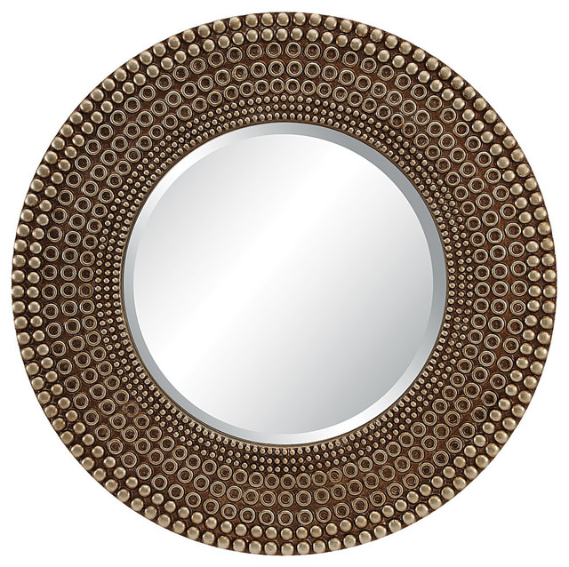 Lyon Wall Mirror, Antique Bronze. -1