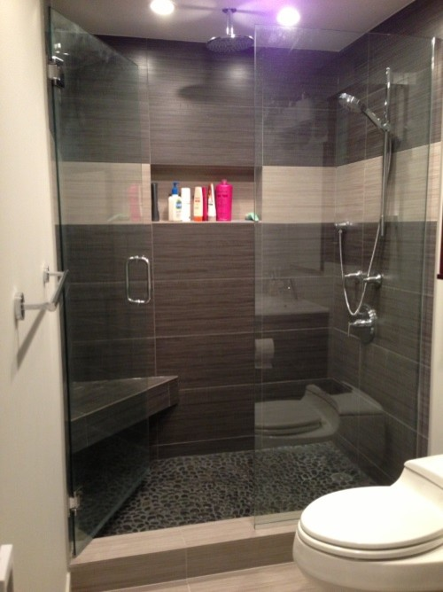 Bath Remodel Chicago Set Modern Bathroom  Before And After  Downtown Chicago Condo