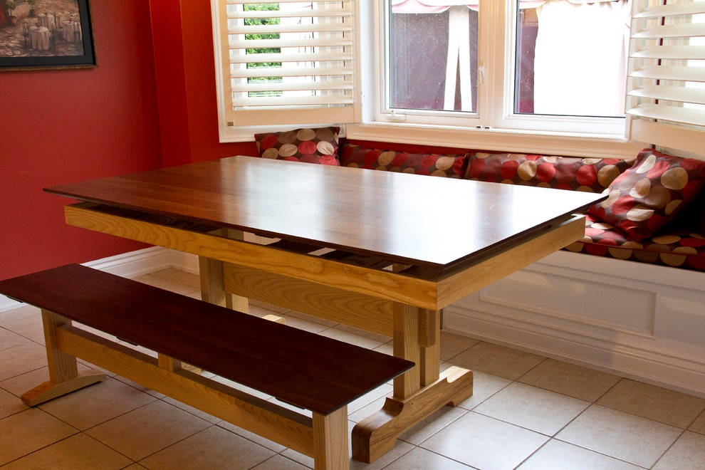 Floating Design Table with Bench