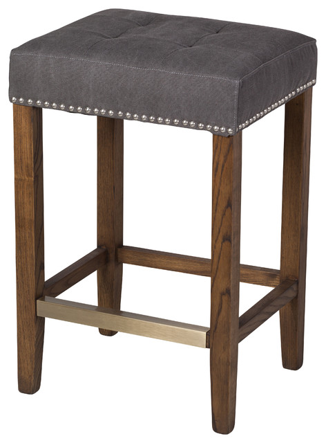 Ash Frost Gray Stool, Counter Height.