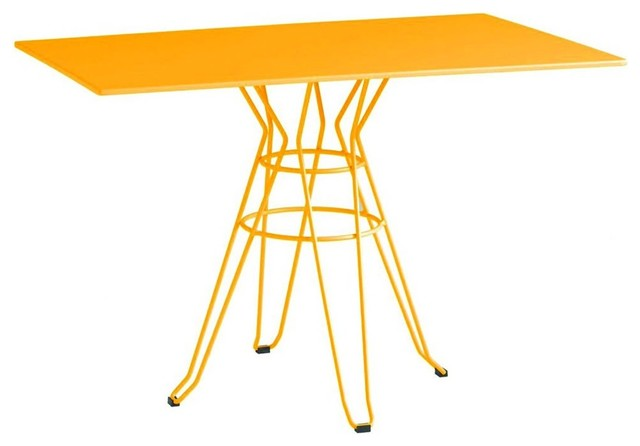 Table de jardin design rectangle 110x70 alameda couleur for Table exterieur jaune