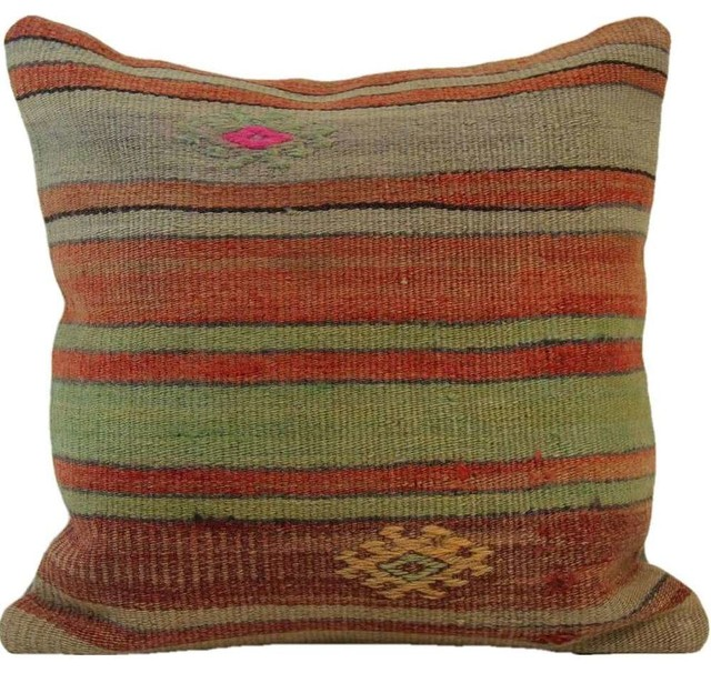 Handmade Vintage Throw Pillows : Shop Houzz Authenturkish Handmade Vintage Turkish Kilim Pillow Cover, 16