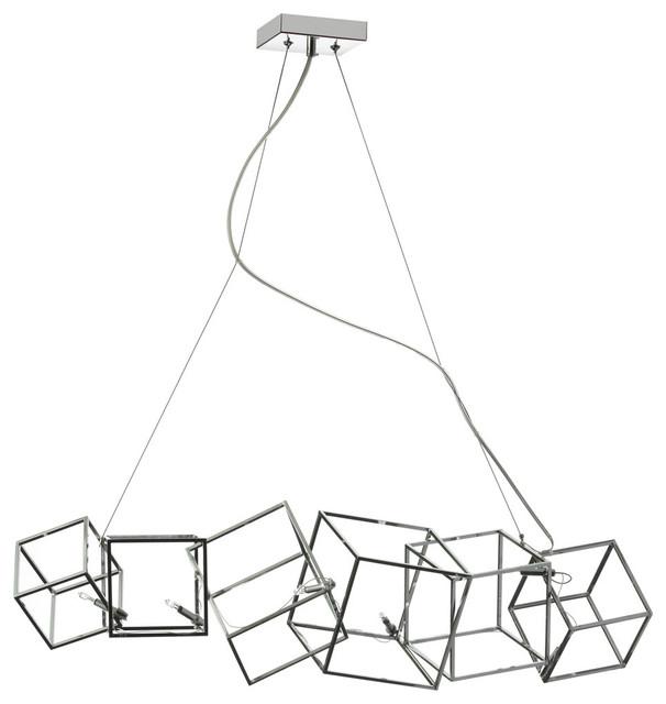 Cubism 6-Light Horizontal Pendant.