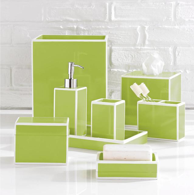 Soho Green Bathroom Accessories By Kassatex