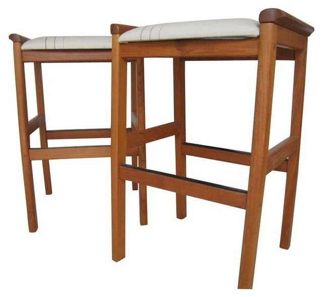 J.l. Moller-Hojbjerg Counter Stools - A Pair modern-accent-and-garden  sc 1 st  Houzz & J.l. Moller-Hojbjerg Counter Stools - A Pair - Modern - Accent And ... islam-shia.org