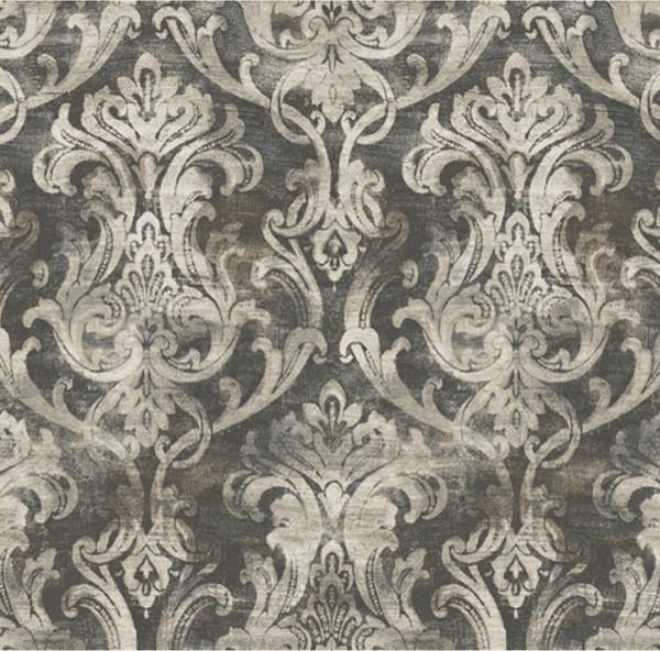 elsa black ornate damask wallpaper wallpaper swatch contemporary wallpaper - Contemporary Damask Wallpaper