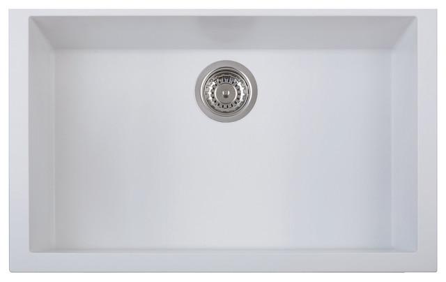 30 undermount single bowl granite composite kitchen sink white contemporary kitchen sinks. Interior Design Ideas. Home Design Ideas