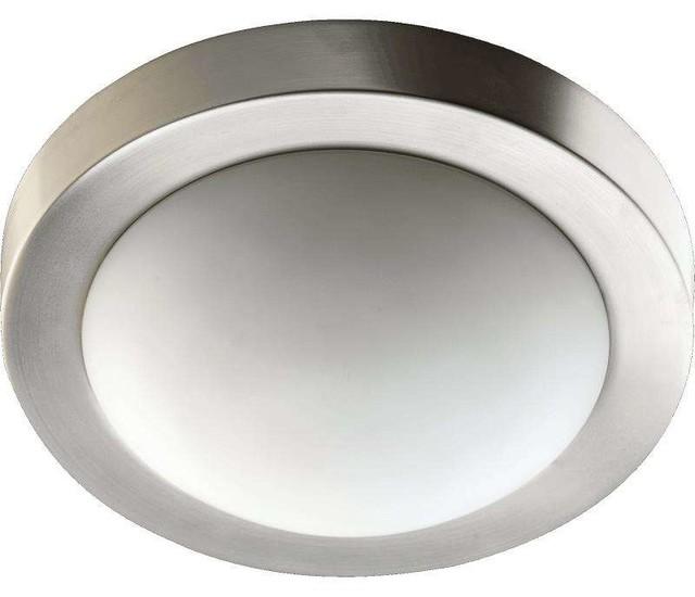 Quorum Lighting 3505-11865 Flush Mount Ceiling Light, Satin Nickel.