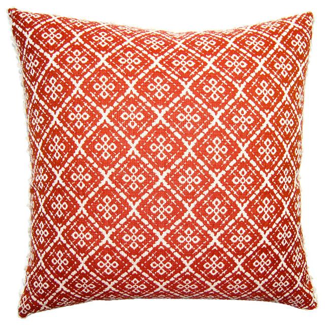 Traditional Decorative Pillows : Lucy Lattice Pillow - Traditional - Decorative Pillows - by Square Feathers, Rhome Living LLC