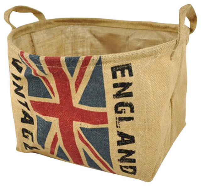 The British Flag Design Household Essentials Laundry Basket.