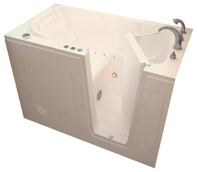 Venzi Bathing 30x54 Right Drain Biscuit Air Jetted Walk In.