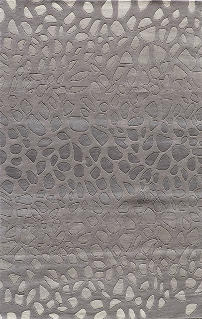 Momeni Delhi Stones Rug Silver And Gray 2 3 X8 Runner