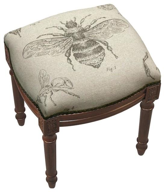 vanity stool bee study bees wood stain