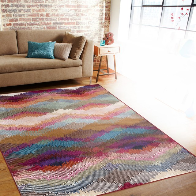 "World Rug Gallery Modern Geometric Multi 7&x27;10""x10&x27;2"" Indoor Area Rug."