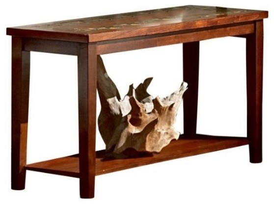 Bowery hill slate sofa table rustic console tables by homesquare bowery hill slate sofa table watchthetrailerfo