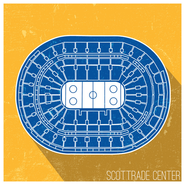St Louis Blues Nhl Seating Map Matte Poster 24 Quot X24