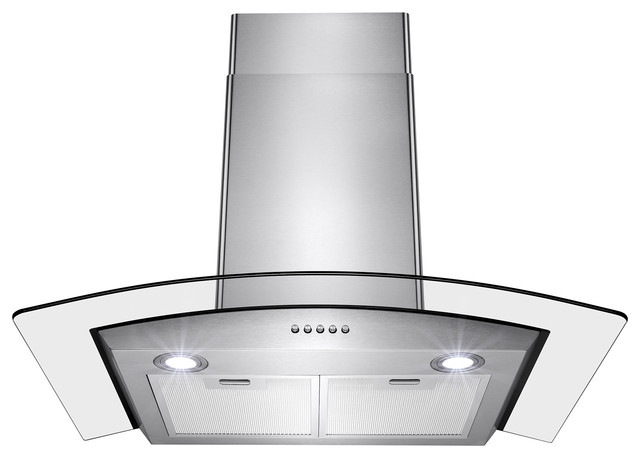 Akdy 30 Wall Mount Stainless Steel Button Panel Kitchen Range Hood Cooking Fan.