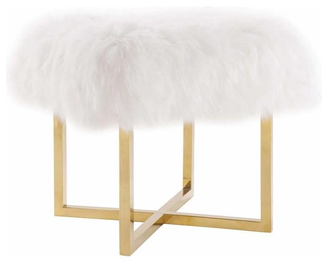 Nomo Sheepskin Bench, White.