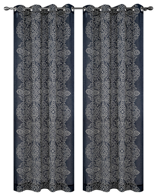Urbanest Bandhini Drapery Curtain Panels With Grommets Southwestern Curtains By Urbanest