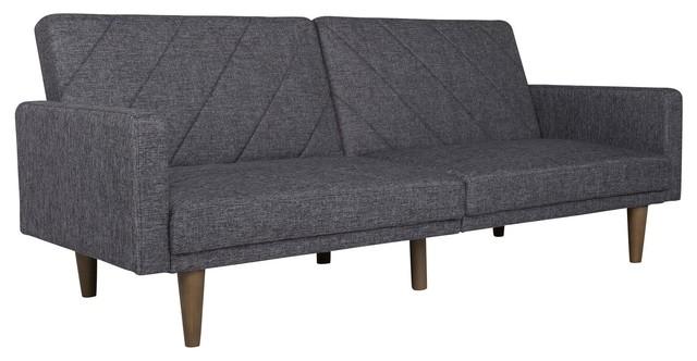 Everyroom Leona Linen Futon In Gray