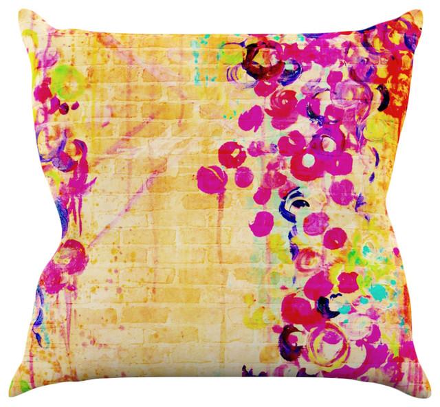 Ebi Emporium quotWall Flowersquot Throw Pillow Contemporary  : contemporary decorative pillows from www.houzz.com size 640 x 592 jpeg 170kB