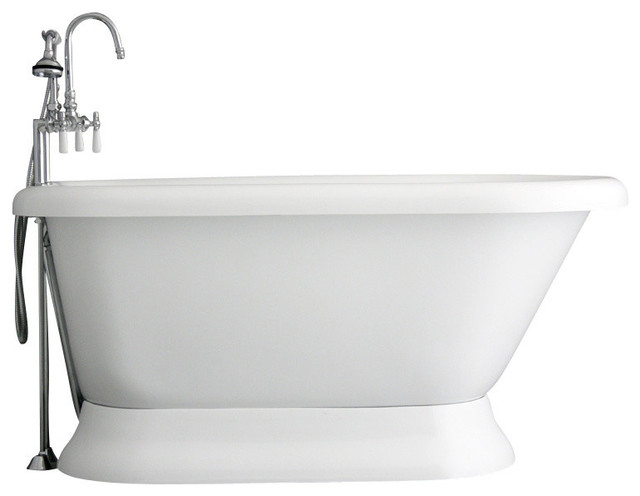 Hotel Collection Classic Pedestal Bathtub/Faucet Package ...