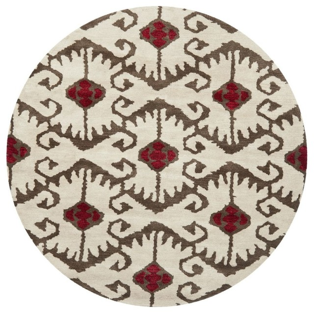 Contemporary round area rugs roselawnlutheran for Modern round area rugs