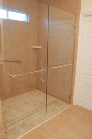 curbless shower doors