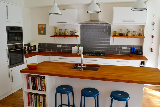 South london 1930s terraced house kitchen diner extension for Modern kitchen in 1930s house