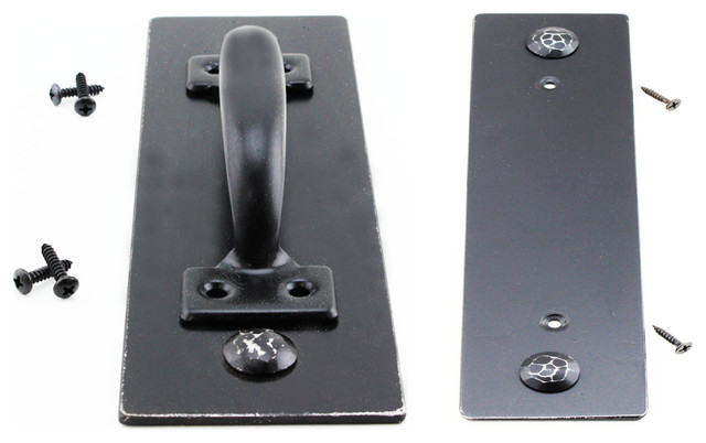 Black Wide Plate Handle Can Cover Door Knob Holes