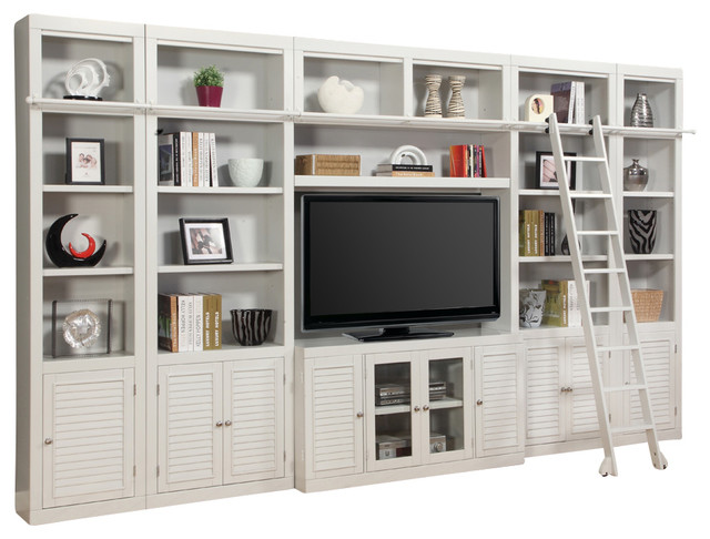 Boca 6 Piece E Saver Entertainment Center Cottage White Finish