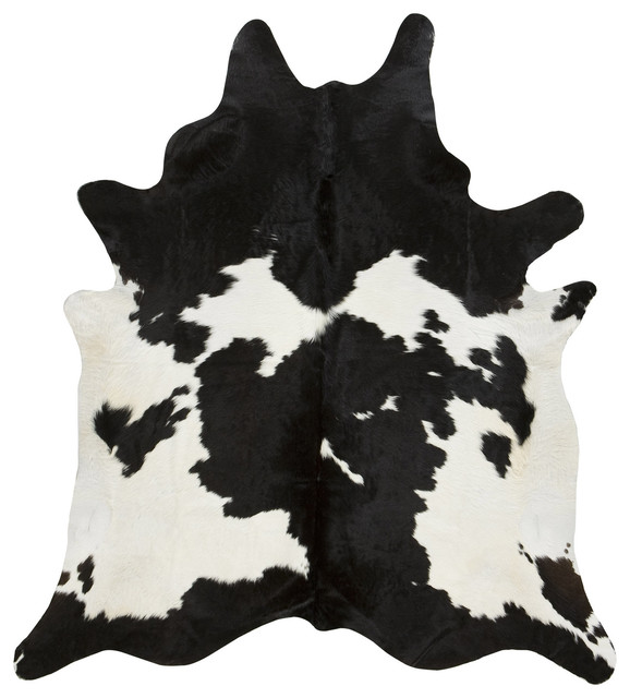 Black And White Cowhide Rug Contemporary Novelty Rugs