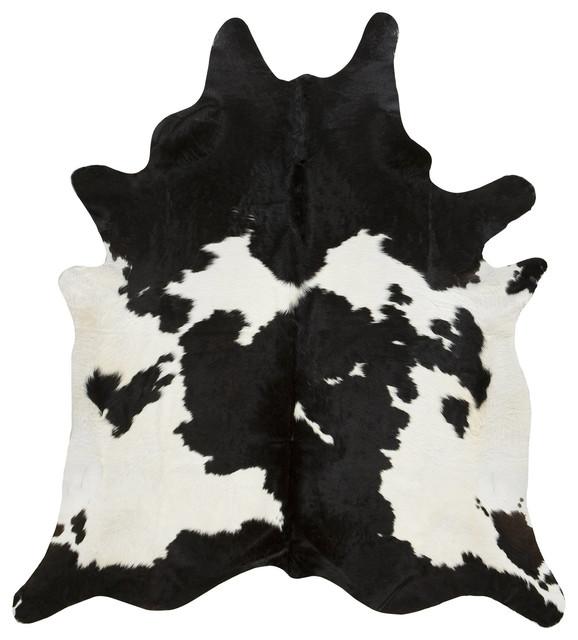 Black And White Cowhide Rug, Xl.