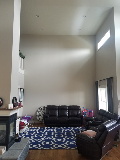 Help needed for furniture arrangement w two story living room Help arranging furniture