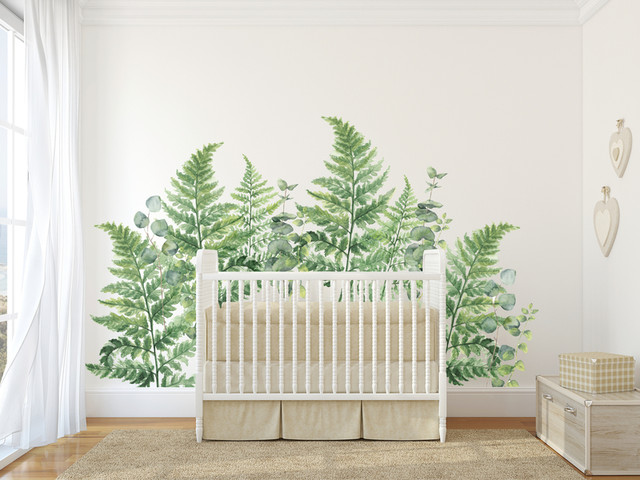 Urban Wall Decals Ferns And Eucalyptus.