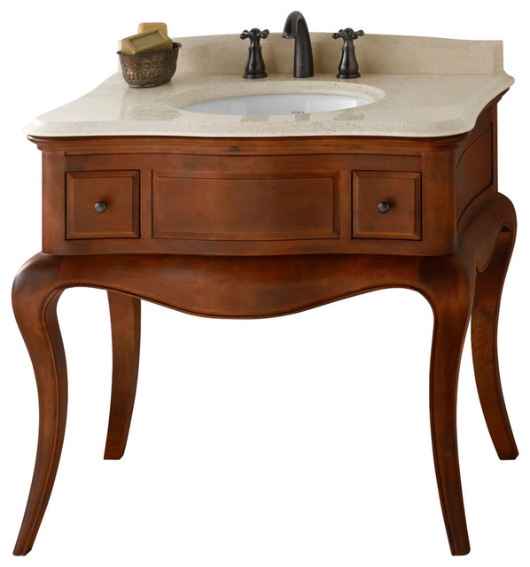 Ronbow Corsica Solid Wood 36 Vanity Set With Ceramic Sink