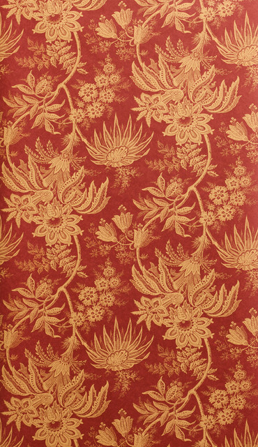 Red And Gold Floral Fern Wallpaper Victorian Wallpaper