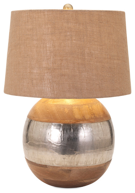 nessa wood and metal clad lamp transitional table lamps by imax worldwide home. Black Bedroom Furniture Sets. Home Design Ideas