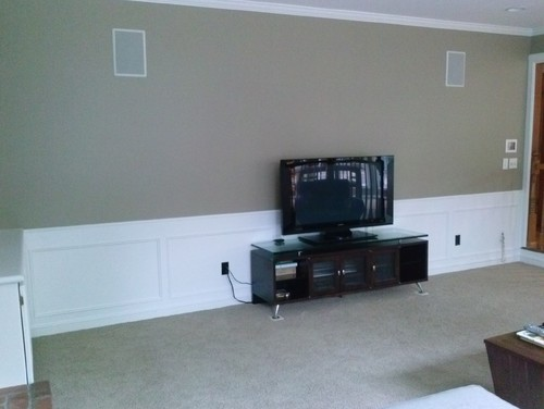 Big Empty Wall Behind Flat Screen TV Need Ideas