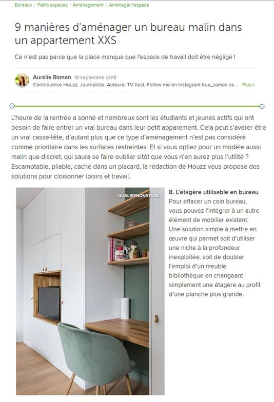 18 septembre 2018 : 9 manières d'aménager un bureau malin dans un appartement XX
