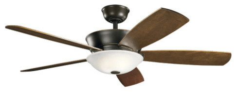 "Kichler 300251 54"" Skye 5 Blade Fan With Led Light And Wall Control."