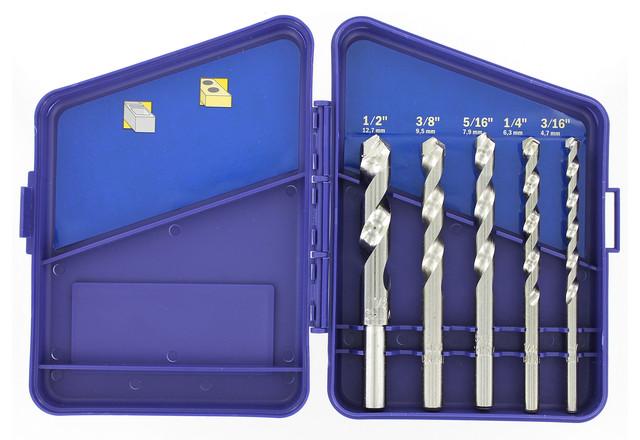 Irwin 5026024 Steel Masonry Drill Bit Set 5 Count.