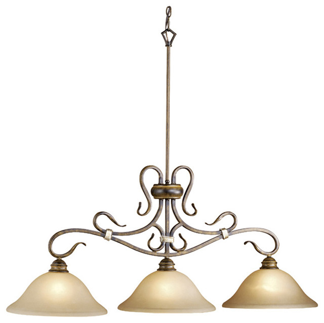 Vaxcel BE-PDD430AW Berkeley 3-Light Kitchen Island Pendant