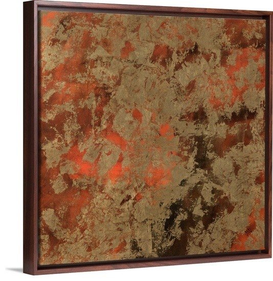 hang kitchen cabinets canvas with floating walnut frame entitled bhutan silk ii 16179
