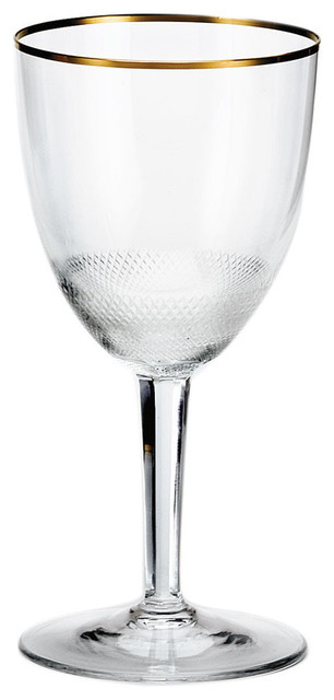 Royal Gold Crystal White Wine Glass Contemporary Wine