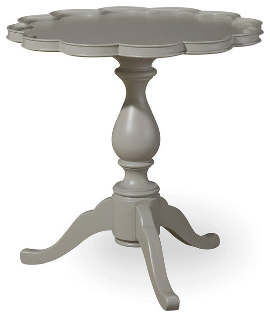 Paula Deen Home Dogwood Pie Crust Table, Cobblestone Traditional Side Tables  And