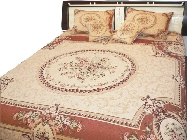 Clementine Chenille Woven Quilt Set Orange And Tan Queen